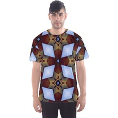 Abstract Seamless Background Pattern Men s Sport Mesh Tee