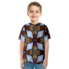 Abstract Seamless Background Pattern Kids  Sport Mesh Tee