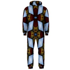Abstract Seamless Background Pattern Hooded Jumpsuit (men)