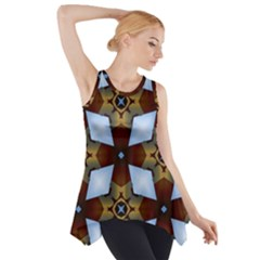 Abstract Seamless Background Pattern Side Drop Tank Tunic