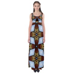 Abstract Seamless Background Pattern Empire Waist Maxi Dress