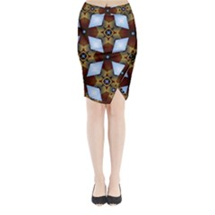 Abstract Seamless Background Pattern Midi Wrap Pencil Skirt