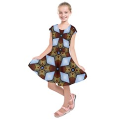 Abstract Seamless Background Pattern Kids  Short Sleeve Dress