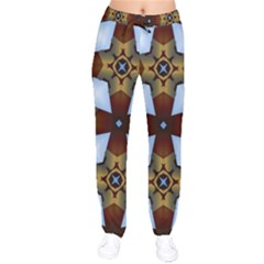 Abstract Seamless Background Pattern Drawstring Pants