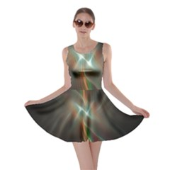 Colorful Waves With Lights Abstract Multicolor Waves With Bright Lights Background Skater Dress
