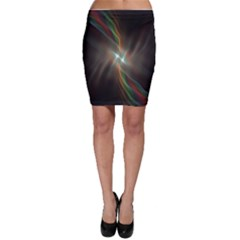 Colorful Waves With Lights Abstract Multicolor Waves With Bright Lights Background Bodycon Skirt