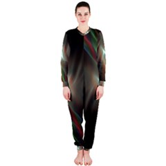 Colorful Waves With Lights Abstract Multicolor Waves With Bright Lights Background OnePiece Jumpsuit (Ladies)