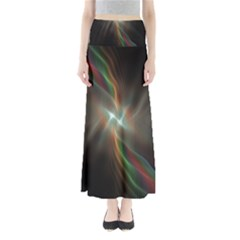 Colorful Waves With Lights Abstract Multicolor Waves With Bright Lights Background Maxi Skirts