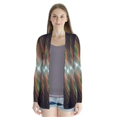Colorful Waves With Lights Abstract Multicolor Waves With Bright Lights Background Cardigans