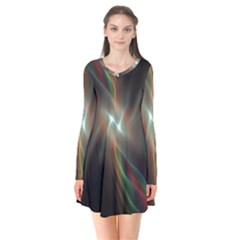 Colorful Waves With Lights Abstract Multicolor Waves With Bright Lights Background Flare Dress