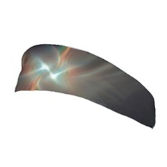 Colorful Waves With Lights Abstract Multicolor Waves With Bright Lights Background Stretchable Headband