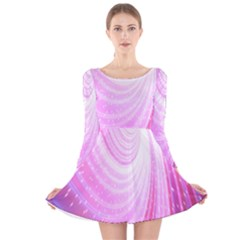 Vortexglow Abstract Background Wallpaper Long Sleeve Velvet Skater Dress