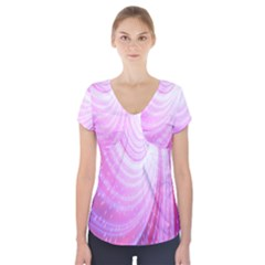 Vortexglow Abstract Background Wallpaper Short Sleeve Front Detail Top