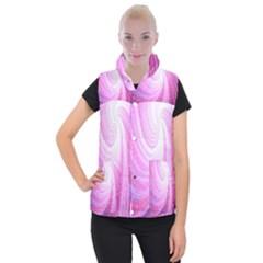 Vortexglow Abstract Background Wallpaper Women s Button Up Puffer Vest