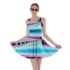 Blue And Pink Swirls And Circles Fractal Skater Dress