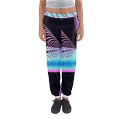 Blue And Pink Swirls And Circles Fractal Women s Jogger Sweatpants