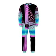 Blue And Pink Swirls And Circles Fractal OnePiece Jumpsuit (Kids)