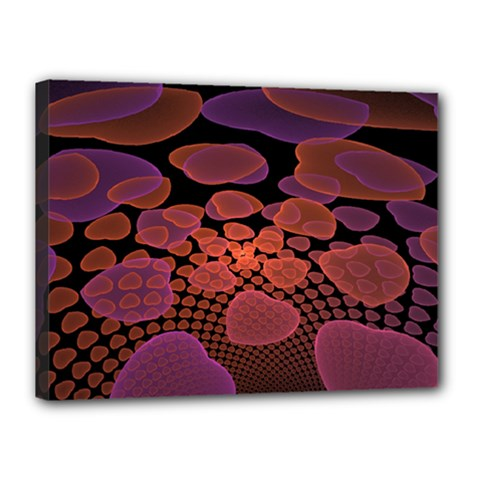 Heart Invasion Background Image With Many Hearts Canvas 16  X 12