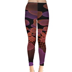 Heart Invasion Background Image With Many Hearts Leggings
