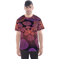 Heart Invasion Background Image With Many Hearts Men s Sport Mesh Tee