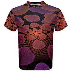 Heart Invasion Background Image With Many Hearts Men s Cotton Tee