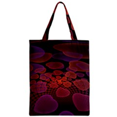 Heart Invasion Background Image With Many Hearts Zipper Classic Tote Bag