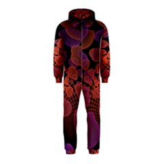 Heart Invasion Background Image With Many Hearts Hooded Jumpsuit (Kids)