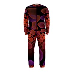 Heart Invasion Background Image With Many Hearts OnePiece Jumpsuit (Kids)