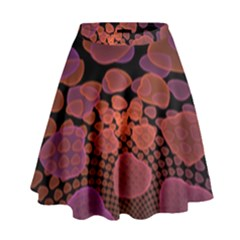 Heart Invasion Background Image With Many Hearts High Waist Skirt
