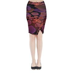 Heart Invasion Background Image With Many Hearts Midi Wrap Pencil Skirt