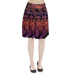 Heart Invasion Background Image With Many Hearts Pleated Skirt