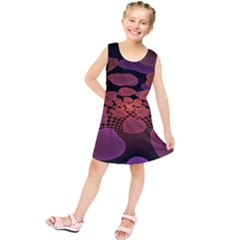 Heart Invasion Background Image With Many Hearts Kids  Tunic Dress