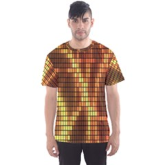 Circle Tiles A Digitally Created Abstract Background Men s Sport Mesh Tee