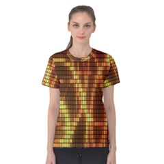 Circle Tiles A Digitally Created Abstract Background Women s Cotton Tee