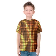 Circle Tiles A Digitally Created Abstract Background Kids  Cotton Tee
