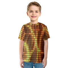 Circle Tiles A Digitally Created Abstract Background Kids  Sport Mesh Tee