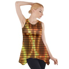 Circle Tiles A Digitally Created Abstract Background Side Drop Tank Tunic