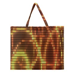 Circle Tiles A Digitally Created Abstract Background Zipper Large Tote Bag