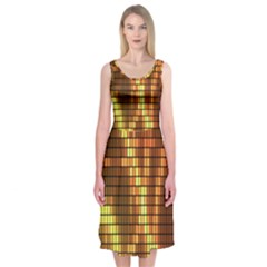 Circle Tiles A Digitally Created Abstract Background Midi Sleeveless Dress