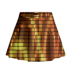 Circle Tiles A Digitally Created Abstract Background Mini Flare Skirt