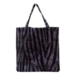 Skin4 Black Marble & Black Watercolor Grocery Tote Bag
