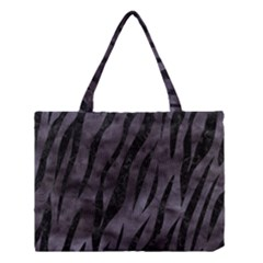 Skin3 Black Marble & Black Watercolor (r) Medium Tote Bag