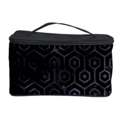 Hexagon1 Black Marble & Black Watercolor Cosmetic Storage Case