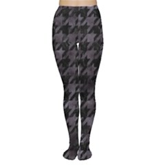 Houndstooth1 Black Marble & Black Watercolor Tights