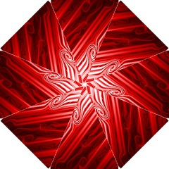 Red Abstract Swirling Pattern Background Wallpaper Hook Handle Umbrellas (Small)