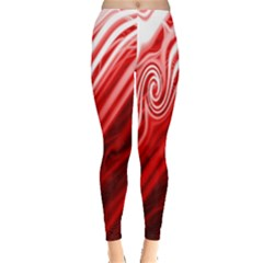 Red Abstract Swirling Pattern Background Wallpaper Leggings