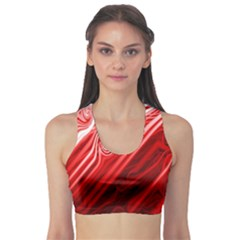 Red Abstract Swirling Pattern Background Wallpaper Sports Bra