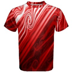 Red Abstract Swirling Pattern Background Wallpaper Men s Cotton Tee