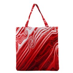 Red Abstract Swirling Pattern Background Wallpaper Grocery Tote Bag