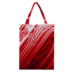 Red Abstract Swirling Pattern Background Wallpaper Classic Tote Bag